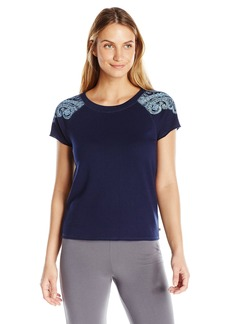 Lucky Brand Women's Printed French Terry Short Sleeve Top