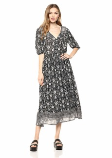 Lucky Brand Women's Printed Peasant Dress  L