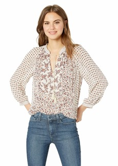 Lucky Brand Women's Printed Peasant TOP  XL