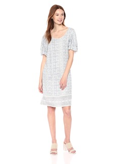 Lucky Brand Women's Printed Ruffle Dress  S