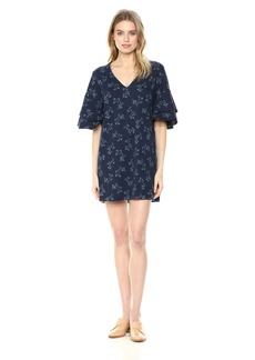 Lucky Brand Women's Printed Ruffle Mini Dress  L