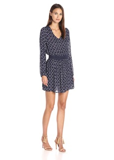 Lucky Brand Women's Printed Smocked Dress