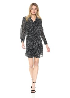 Lucky Brand Women's Printed Tie Front Dress  XL