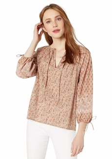 Lucky Brand Women's Printed Vivienne TOP  S