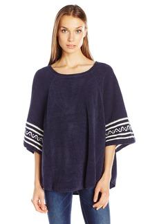Lucky Brand Women's Raglan Boucle Knit Poncho