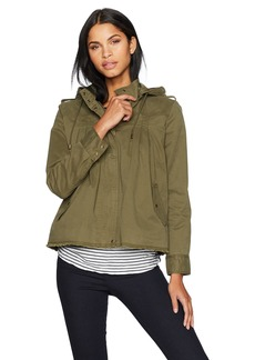Lucky Brand Women's Raw Edge Military Jacket  L