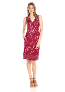 Lucky Brand Women's Red Batik Print Dress