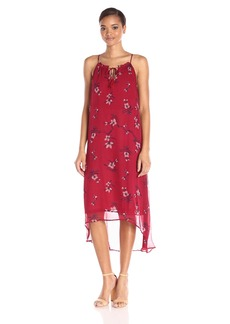 Lucky Brand Women's Red Floral Dress