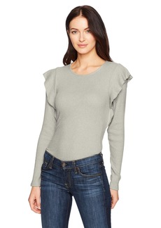 Lucky Brand Women's Rib Ruffle Top  XL