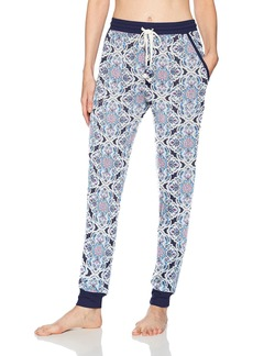 Lucky Brand Women's Rib Trimmed Jogger Pajama Pant  M