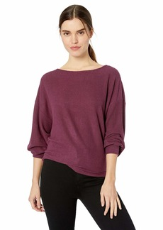 Lucky Brand Women's Ribbed Dolman Pullover Sweatshirt  L