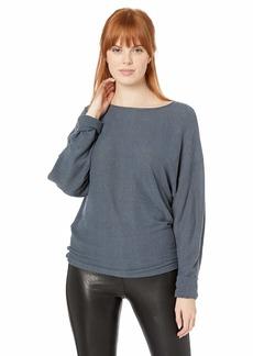 Lucky Brand Women's Ribbed Dolman Pullover Sweatshirt  XL