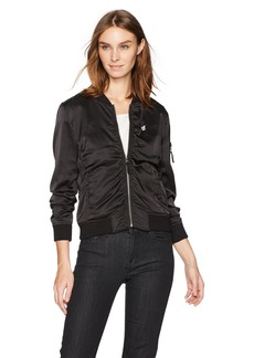 Lucky Brand Women's Rouched Bomber Jacket  L