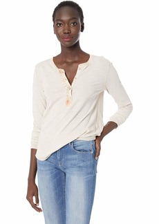 Lucky Brand Women's Ruffle Henley Shirt in  XL