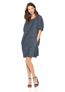 Lucky Brand Women's Saturday Denim Polka DOT Dress  XL