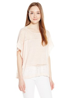 Lucky Brand Women's Scarf Embroidered Top  Small