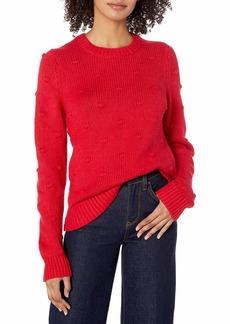 Lucky Brand Women's Scoop Neck Bobble Knit Sweater