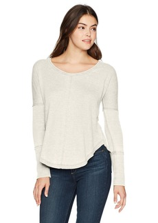 Lucky Brand Women's Scoop Neck Thermal  S