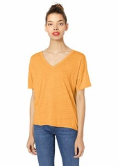Lucky Brand Women's Seamed Burn Out TEE  S