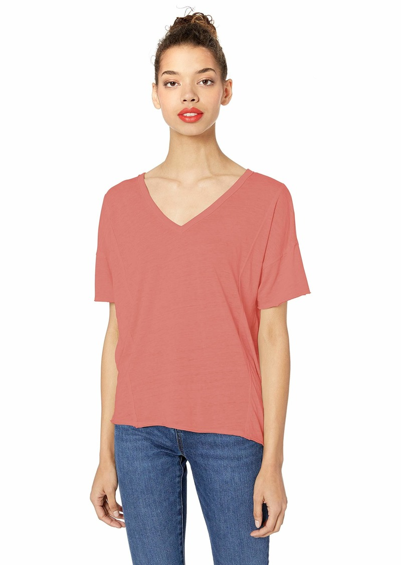 Lucky Brand Women's Seamed Burn Out TEE  XL