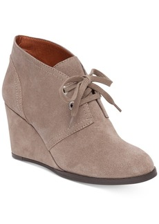 Lucky Brand Women's Seleste Lace-Up Wedge Booties Women's Shoes