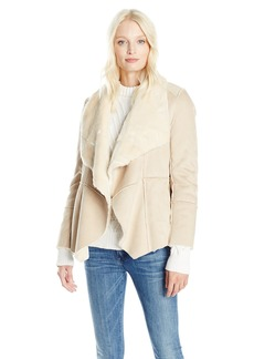 Lucky Brand Women's Shearling Waterfall Jacket