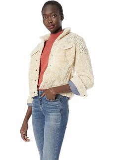 Lucky Brand Women's Sherpa Tomboy Trucker Jacket  S