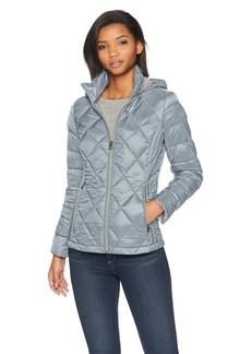 Lucky Brand Women's Short Packable Down Coat with Quilt Detail  XL