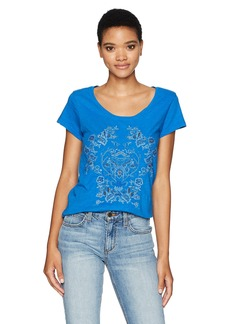 Lucky Brand Women's Short Sleeve Beaded Tee