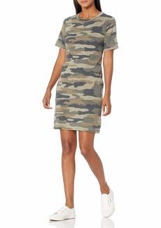 Lucky Brand Women's Short Sleeve Crew Neck Camo Summer Tee Dress