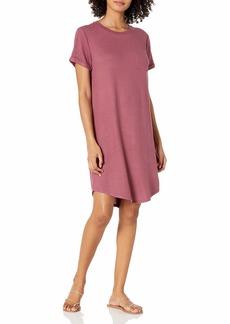 Lucky Brand Women's Short Sleeve Crew Neck Cloud Jersey Tee Dress  XS