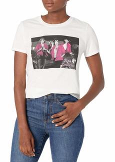 Lucky Brand Women's Short Sleeve Crew Neck Pink Ladies Tee  S