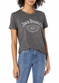 Lucky Brand Women's Short Sleeve Scoop Neck Jack Daniels Tee