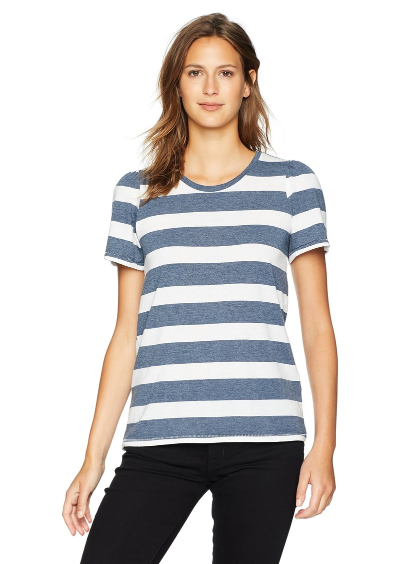 Lucky Brand Women's Short Sleeve Scoop Neck Stripe TEE  S