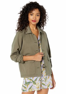 Lucky Brand Women's Shrunken Chore Coat  L