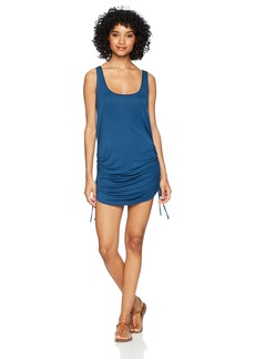 Lucky Brand Women's Side-Shirred Tank Tunic Cover-up Dress  S