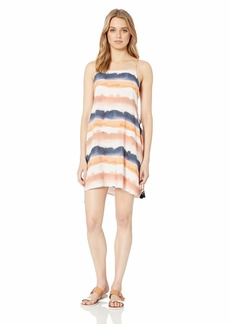 Lucky Brand Women's Side Tie Cover Up Slip Dress  M