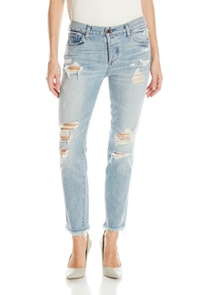 Lucky Brand Women's Sienna Slim Destructed Boyfriend Jean