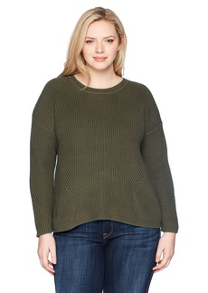Lucky Brand Women's Size Plus Back LACE Pullover Sweater
