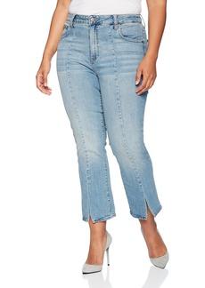 Lucky Brand Women's Size Plus HIGH Rise Emma Mini Boot Jean in  W