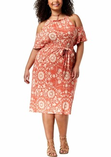 Lucky Brand Women's Size Plus Smocked Neck Tank Dress