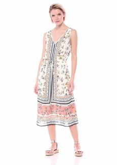Lucky Brand Women's Sleeveless Printed Olivia Dress  L