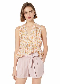 Lucky Brand Women's Sleeveless Romantic Ruffle TOP  S