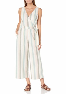 Lucky Brand Women's Sleeveless V Neck Tie Waist Daisy Jumpsuit  S