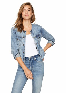 Lucky Brand Women's Smart Denim Trucker Jacket  M
