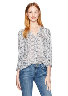 Lucky Brand Women's Smocked Peasant Top
