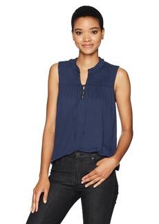 Lucky Brand Women's Smocked Sleeveless Top