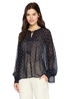 Lucky Brand Women's Smocked Top  L
