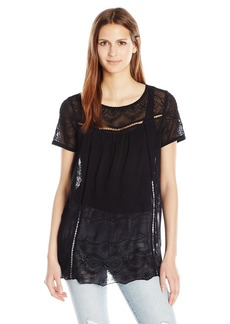 Lucky Brand Women's Soft Eyelet Blouse