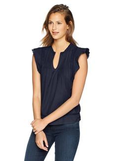 Lucky Brand Women's Solid Pintuck TOP  XS